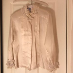Vintage Escada cream silk blouse
